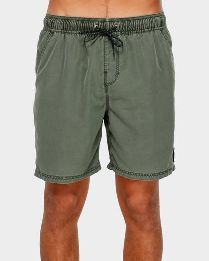 "2 ALL DAY OVERDYE 17"" LAYBACK BOARDSHORT Green 9572439 Billabong"