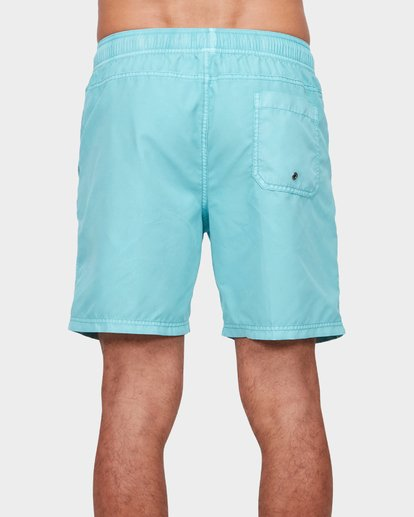 "4 ALL DAY OVERDYE 17"" LAYBACK BOARDSHORT Blue 9572439 Billabong"
