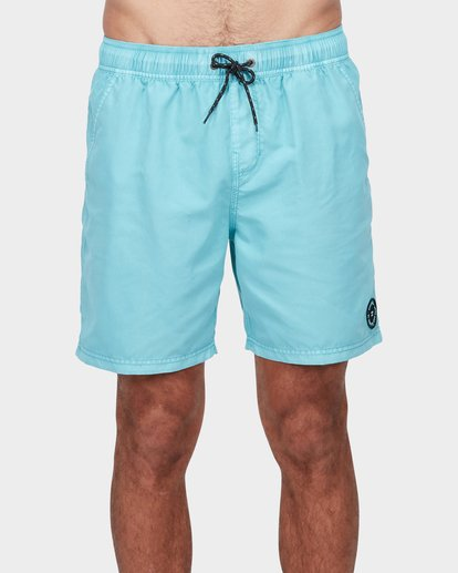 "2 ALL DAY OVERDYE 17"" LAYBACK BOARDSHORT Blue 9572439 Billabong"