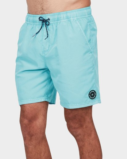 "3 ALL DAY OVERDYE 17"" LAYBACK BOARDSHORT Blue 9572439 Billabong"
