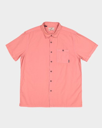 4 WAVE WASHED SHORT SLEEVE SHIRT Pink 9581209 Billabong
