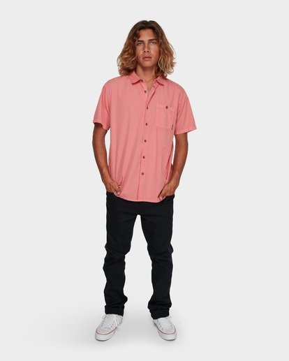 5 WAVE WASHED SHORT SLEEVE SHIRT Pink 9581209 Billabong
