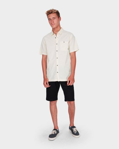 4 WAVE WASHED SHORT SLEEVE SHIRT Grey 9581209 Billabong