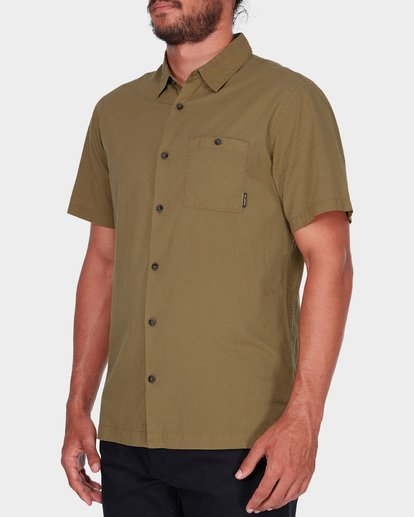 1 WAVE WASHED SHORT SLEEVE SHIRT Brown 9581209 Billabong
