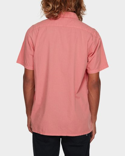 3 WAVE WASHED SHORT SLEEVE SHIRT Pink 9581209 Billabong