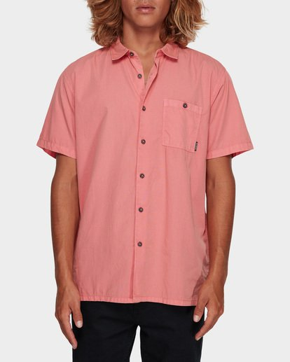0 WAVE WASHED SHORT SLEEVE SHIRT Pink 9581209 Billabong