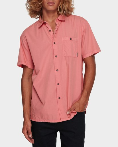 1 WAVE WASHED SHORT SLEEVE SHIRT Pink 9581209 Billabong