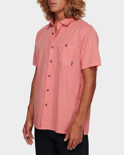 2 WAVE WASHED SHORT SLEEVE SHIRT Pink 9581209 Billabong