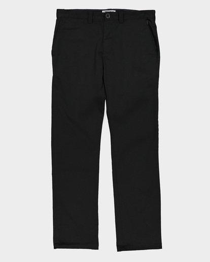 6 CARTER STRECH CHINO PANTS Black 9581307 Billabong