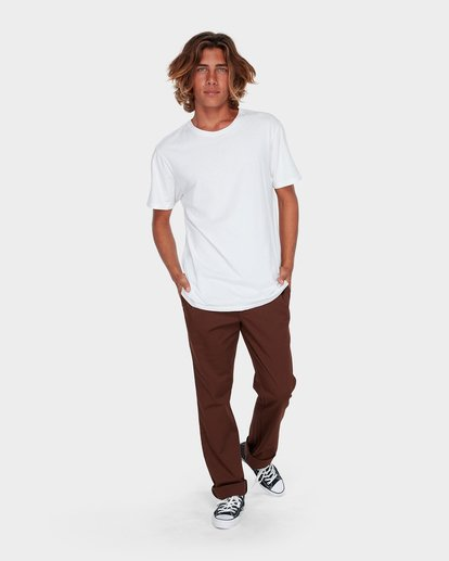 3 Carter Stretch Chino Pants Brown 9581307 Billabong