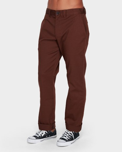 1 Carter Stretch Chino Pants Brown 9581307 Billabong