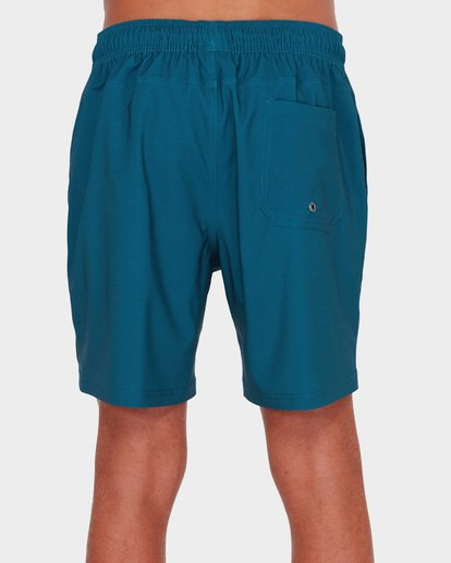 "4 All Day Solid Layback 17"" Boardshort Blue 9581415 Billabong"