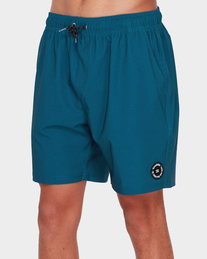 "3 All Day Solid Layback 17"" Boardshort Blue 9581415 Billabong"