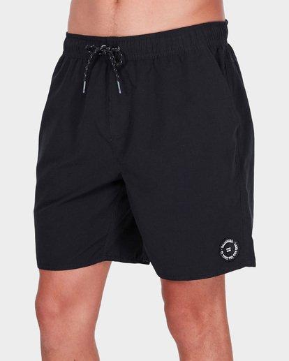 3 All Day Solid Layback Boardshorts Black 9581415 Billabong