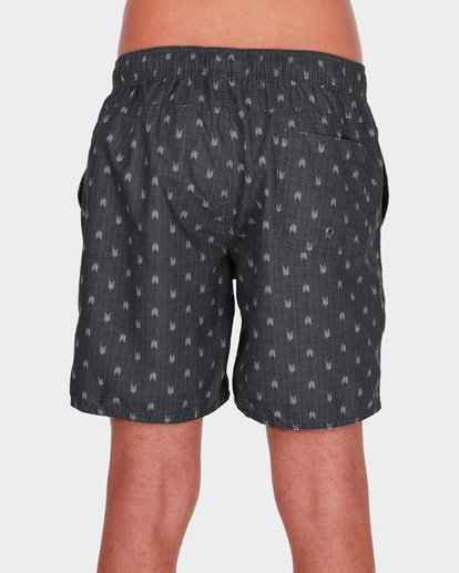 "4 ALL DAY MINI MARK 17"" LAYBACK BOARDSHORT Grey 9581418 Billabong"