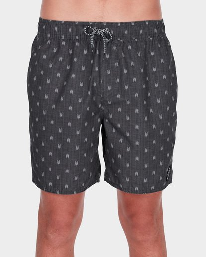 "2 ALL DAY MINI MARK 17"" LAYBACK BOARDSHORT Grey 9581418 Billabong"