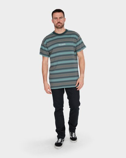 5 MIX UP STRIPE TEE Green 9582013 Billabong