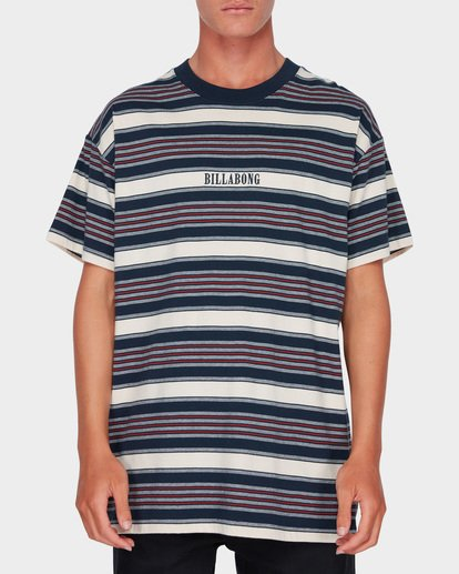 0 MIX UP STRIPE TEE Blue 9582013 Billabong