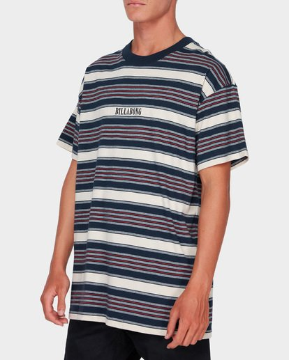 1 MIX UP STRIPE TEE Blue 9582013 Billabong