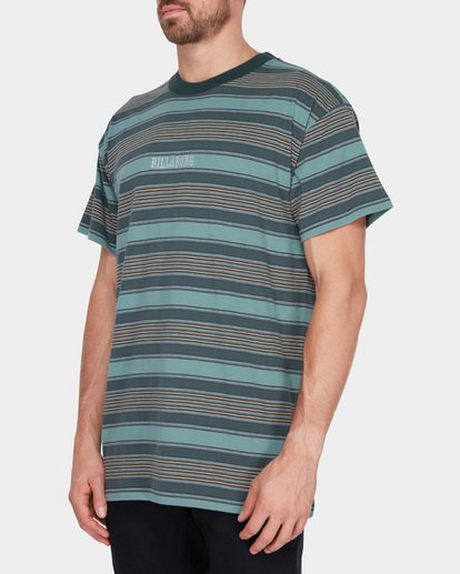 1 MIX UP STRIPE TEE Green 9582013 Billabong