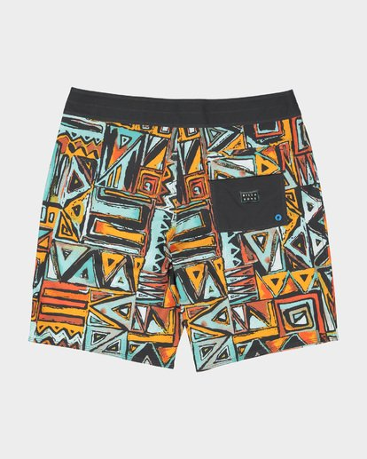 "1 SUNDAYS X 18"" BOARDSHORT Red 9582404 Billabong"