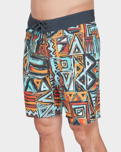 "3 SUNDAYS X 18"" BOARDSHORT Red 9582404 Billabong"
