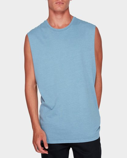 1 Premium Wave Wash Muscle Tank Blue 9582506 Billabong