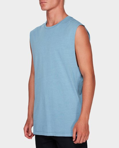 2 Premium Wave Wash Muscle Tank Blue 9582506 Billabong