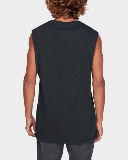 2 Premium Wave Wash Muscle Tank Black 9582506 Billabong