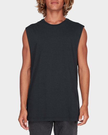 0 Premium Wave Wash Muscle Tank Black 9582506 Billabong