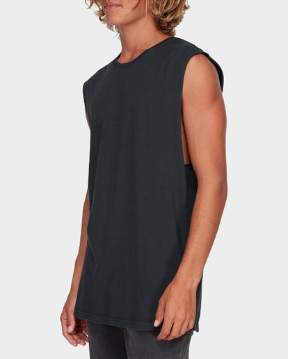1 Premium Wave Wash Muscle Tank Black 9582506 Billabong