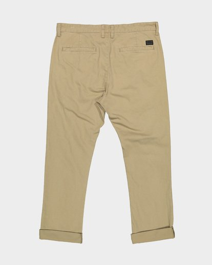 4 NEW ORDER CHINO ROLL UP PANTS Grey 9585303 Billabong