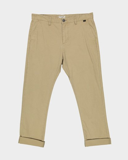 3 NEW ORDER CHINO ROLL UP PANTS Grey 9585303 Billabong