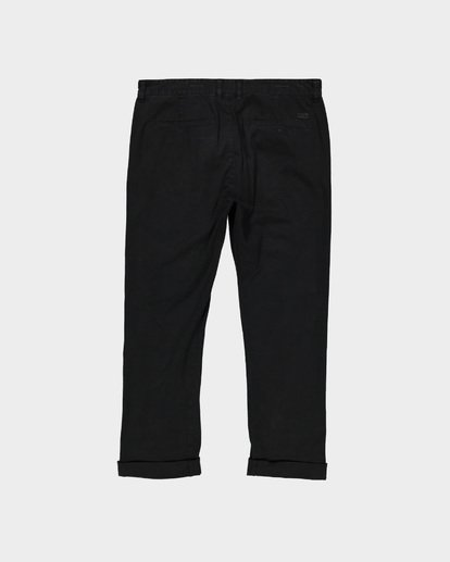 4 New Order Chino Roll Up Pants Black 9585303 Billabong