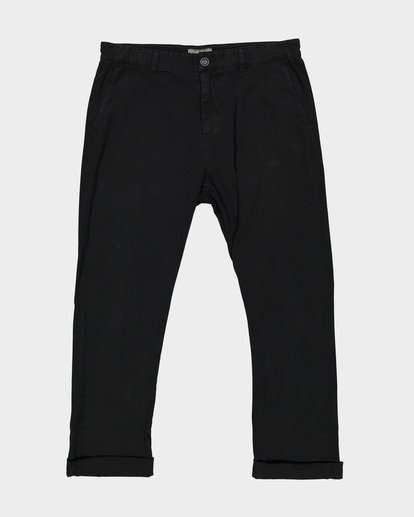 3 New Order Chino Roll Up Pants Black 9585303 Billabong