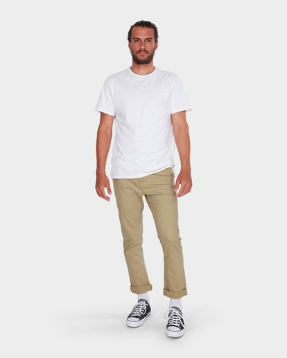 5 New Order Chino Roll Up Pants Grey 9585303 Billabong