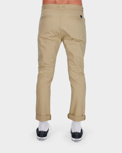 2 NEW ORDER CHINO ROLL UP PANTS Grey 9585303 Billabong