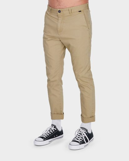 1 NEW ORDER CHINO ROLL UP PANTS Grey 9585303 Billabong