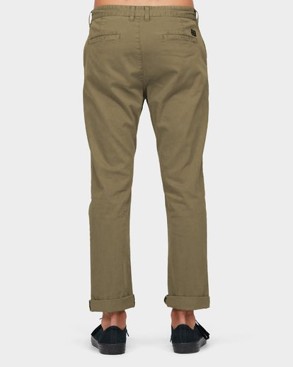 2 New Order Chino Roll Up Pants Green 9585303 Billabong