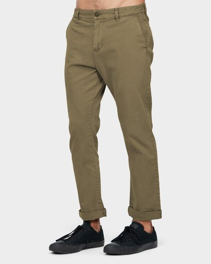 1 New Order Chino Roll Up Pants Green 9585303 Billabong