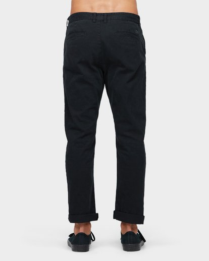 2 New Order Chino Roll Up Pants Black 9585303 Billabong