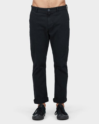 0 New Order Chino Roll Up Pants Black 9585303 Billabong