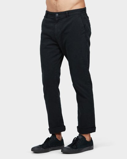 1 New Order Chino Roll Up Pants Black 9585303 Billabong