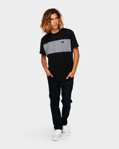 6 THE BANDED PANEL TEE Black 9591002 Billabong
