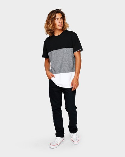 6 The Banded Panel Tee Grey 9591002 Billabong