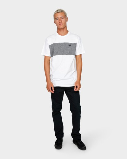 6 The Banded Panel Tee White 9591002 Billabong