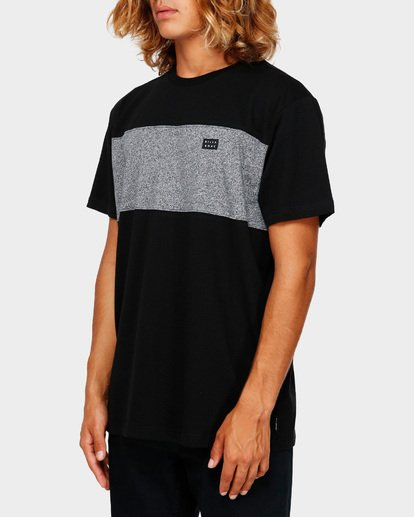 2 THE BANDED PANEL TEE Black 9591002 Billabong