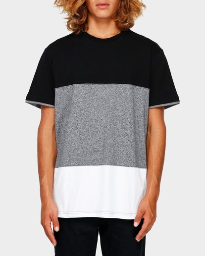 0 The Banded Panel Tee Grey 9591002 Billabong