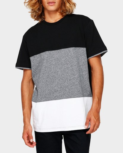 1 The Banded Panel Tee Grey 9591002 Billabong