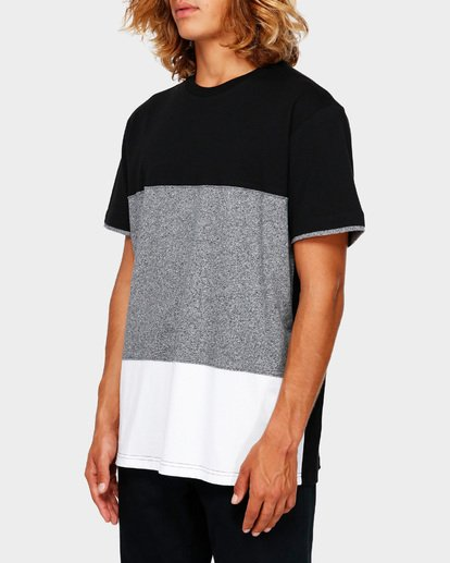 2 The Banded Panel Tee Grey 9591002 Billabong